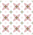 geometric abstract soft flowers in pastel colors vector image vector image