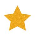 glitter golden star isolated on white backg vector image vector image