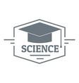 graduation cap logo simple gray style vector image