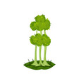 green tree fantasy nature landscape element vector image