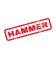 Hammer Text Rubber Stamp vector image vector image