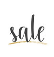 handwritten lettering of sale on white background vector image