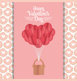 happy valentines day origami paper balloons vector image
