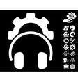 Headphones Configuration Gear Icon with vector image