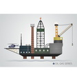 Isolated oil platform vector image
