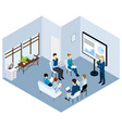 isometric coaching characters concept vector image vector image