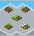 isometric road set of bitumen underground down vector image vector image