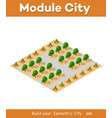 isometric view of a farm vector image vector image
