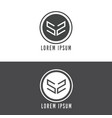 letter logo with circle vector image vector image
