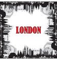 london skyline silhouette 7 vector image vector image