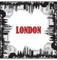 london skyline silhouette 7 vector image