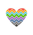love heart chevron style logo vector image vector image