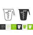 measuring cup simple black line icon vector image vector image
