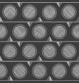 monochrome tribal circle pattern vector image vector image