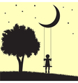 Moon swings vector image vector image