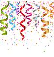 Multicolor Curling Stream vector image vector image