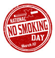 national no smoking day grunge rubber stamp vector image