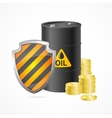 Oil Barrel Price Safety Concept vector image vector image