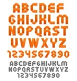 Orange ribbons alphabet vector image vector image