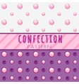 Pattern candies on a pink background vector image vector image