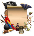 pirate paper scroll vector image