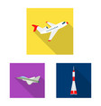 plane and transport sign vector image