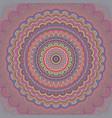 psychedelic bohemian mandala ornament background vector image vector image