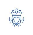 queen line icon concept queen flat symbol vector image