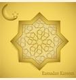 ramadan kareem calligraphy in octagonal arabic vector image