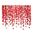 re hearts explosion confetti vector image vector image