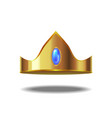 realistic detailed 3d golden crown vector image vector image