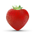 realistic strawberry isolated on white background vector image vector image