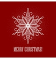 Red Christmas background with snowflake vector image vector image