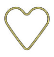 rope frame heart vector image vector image