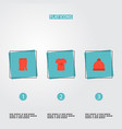 set of garment icons flat style symbols with t vector image vector image