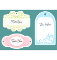 set of three labels vector image vector image