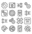 settings options configuration or preferences vector image vector image