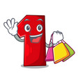 shopping number one index finger on cartoon vector image