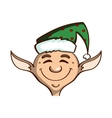 Smiling Elf On White vector image vector image