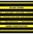 Under construction lines vector image