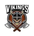 viking skull army vector image