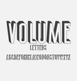 volumetric monochrome letters isolated english vector image