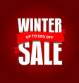 winter sale badge label promo banner template up vector image vector image