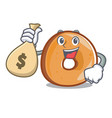 with money bag bagels character cartoon style vector image vector image