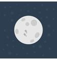 Moon Flat design vector image