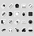 Computer icons stikers vector image