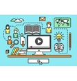 online training courses vector image