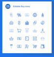 25 buy icons vector image vector image