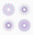 abstract circular geometric shapes vector image vector image