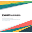 abstract template header and footers colorful vector image vector image